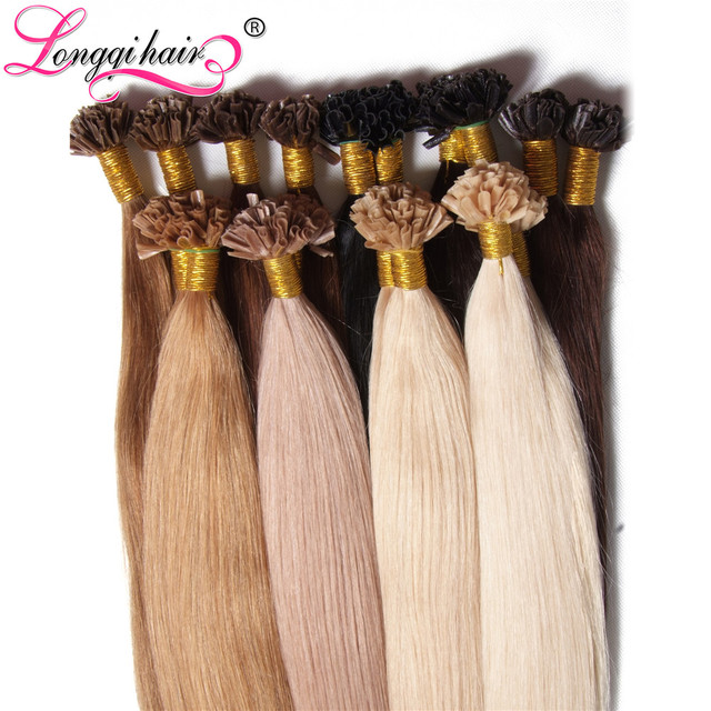 U nail tip hair extensions pre bonded keratin glue fusion hair u nail tip hair extensions pre bonded keratin glue fusion hair extensions indian remy colorful pmusecretfo Image collections