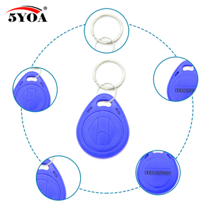 Image 3 - 100pcs Blue RFID 125 khz EM4100 Key Tag Keyfobs Ring Chip Keytab TK4100 Tags 125khz Read Only