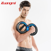 KUANGMI Sports 8 Model Shapes Power Wrist Grip Strength Professional  Training Tools Steel Forearm Hand Exerciser