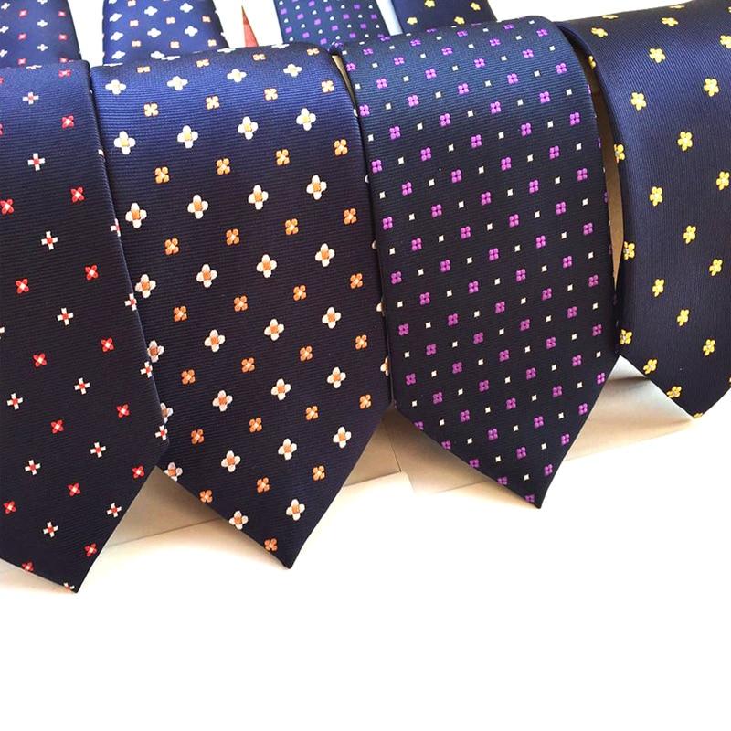 Men's 8 Cm Fashion Blue Navy Wine Brown Ties Purple Striped Tie Yellow Necktie Red Wedding Neck Tie For Men Formal Business Suit