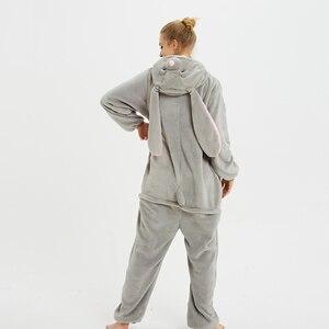Image 4 - Unisex Kigurumi Adult Unicorn Pajamas onesie Cosplay Women Winter Flannel Pajama unicornio Sleepwear Overall Couple pijama