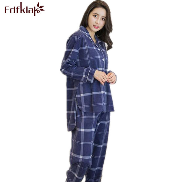 c4616d923d Spring Autumn Winter New Long Sleeve Pijama Cotton Women Pijama Plus Size  Pyjama Adulte Clothing Home
