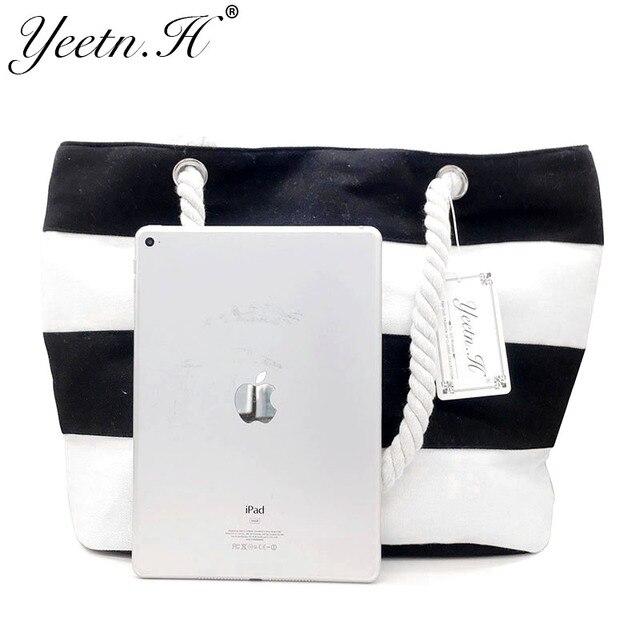Quality Women's Top-Handle Bag Canvas Handbags Fashion Large Beach Bags Shoulder Bag 5