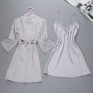 Image 4 - Sexy Summer Womens Robe Bath Gown Sleepwear Casual Ladies Home Wear Nightwear