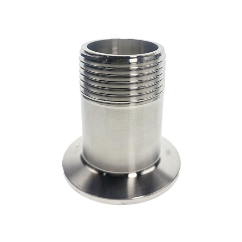 DN15 - DN50 304 Sanitary Stainless Steel Male Threaded Pipe Fitting Ferrule
