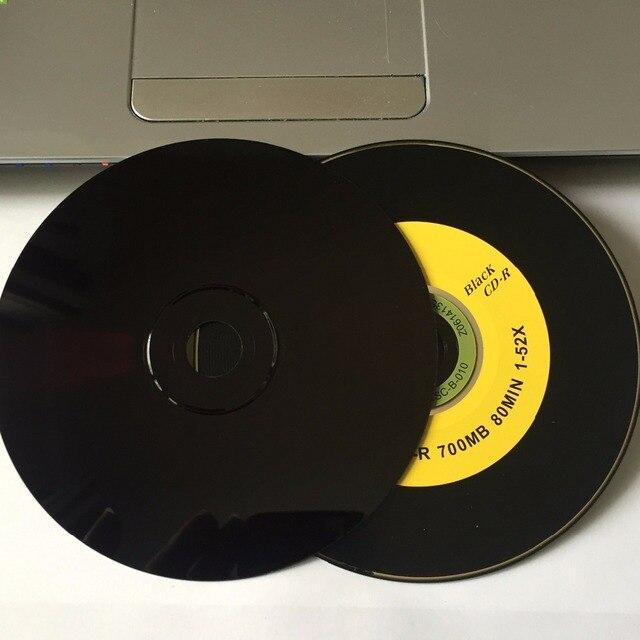 10 Discs bán buôn A + 52x700 MB Trống Ba Trái Cây Màu Đen In CD-R