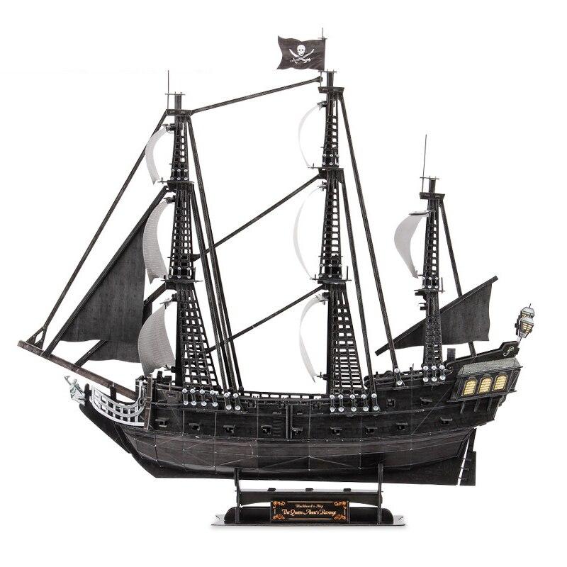 Puzzle 3D en bois fait à la main 371 pièces Titanic RMS bateau bateau modèle de ville enfants jouets éducatifs de travaux manuels Puzzles en papier Puzzle enfants cadeau
