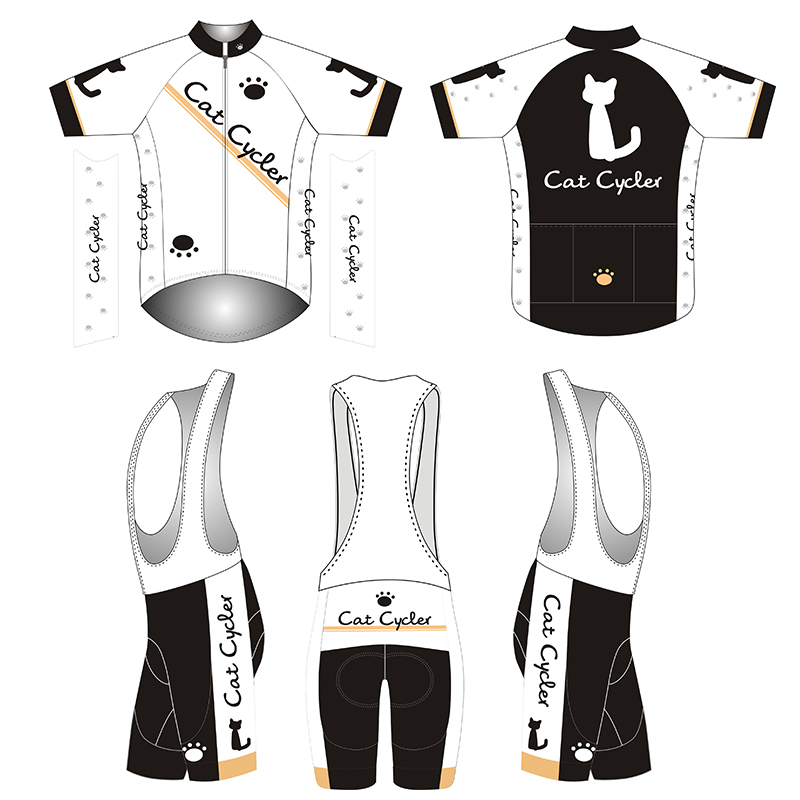 2018 Cat Racing Gear Cycling Jersey shorts Sets MTB Mountain Bike Clothing Bike wear Breathable Bicycle clothes Mens Sports Suit
