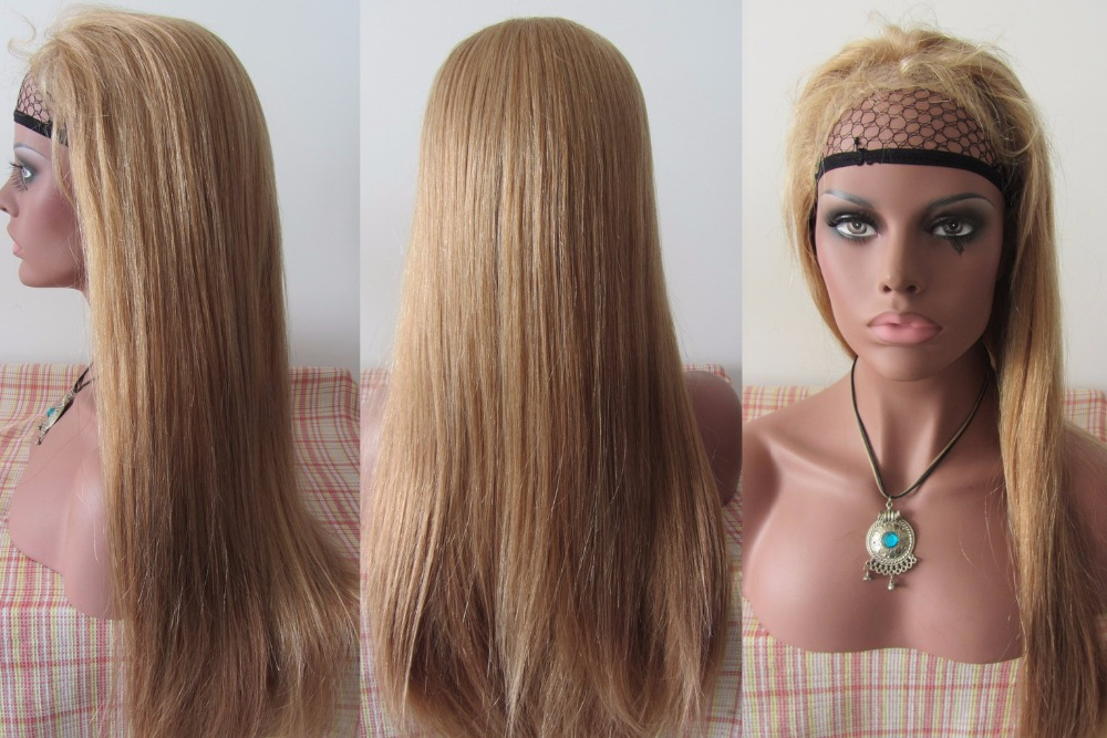 9a Grade 27 Honey Blonde And 22 Mixed Hair Color Full Lace Wig