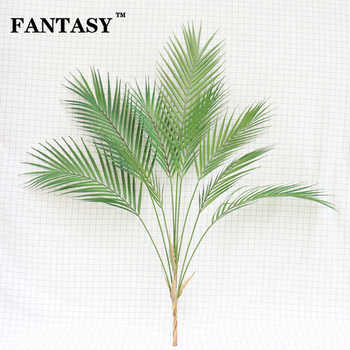 88cm 9 Fork Tropical Fake Palm Tree Bouquet Artificial Leaves Branch Large Green False Plant Plastic Leaf For Hawaii Party Decor - DISCOUNT ITEM  35% OFF All Category