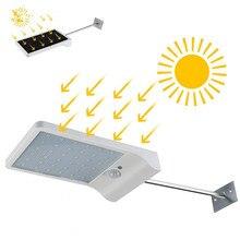 36 светодиодный Улице Солнечный желоба Огни бра с крепления Полюс-36 светодиодный открытый движения Сенсор детектор света для Barn крыльцо лампа