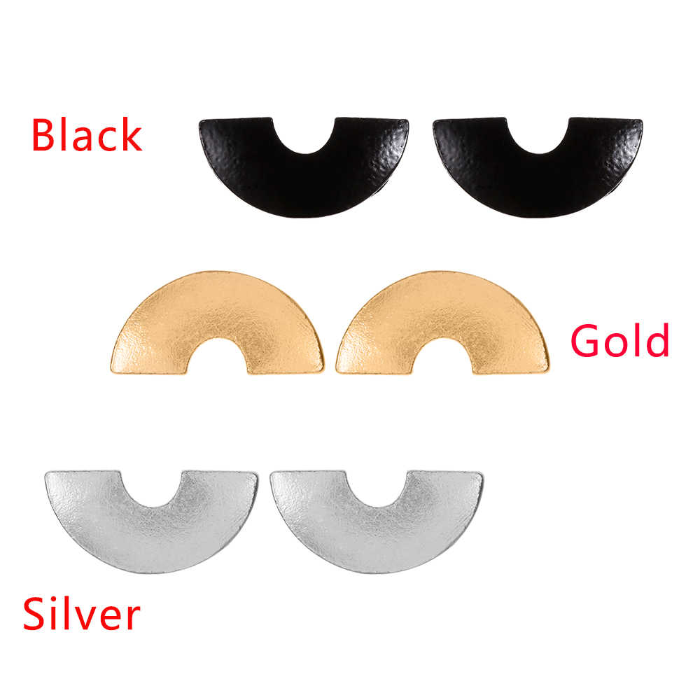 2018 New Fashion Brand Vintage Semicircle Ear Studs Earrings Gold Silver Color Metal Earrings for Women Jewelry Gifts