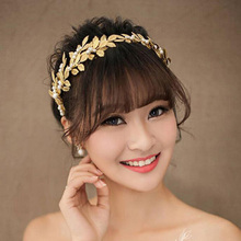 Women Girls Boho Jewelry Leaf Headband Gold Hair Leaf Crown Tiara Golden Headbands Feuille or Couronne Cheveux Hair Band Gold