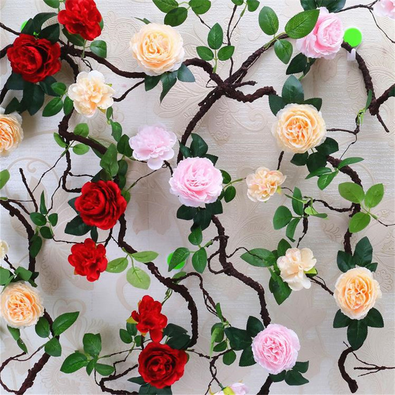 Hearty 1 Branch Flat Grass Rattan Fake Leaf Flowers Fake Plants Plastic Artificial Flowers Wedding Party Birthday Home Decoration Festive & Party Supplies