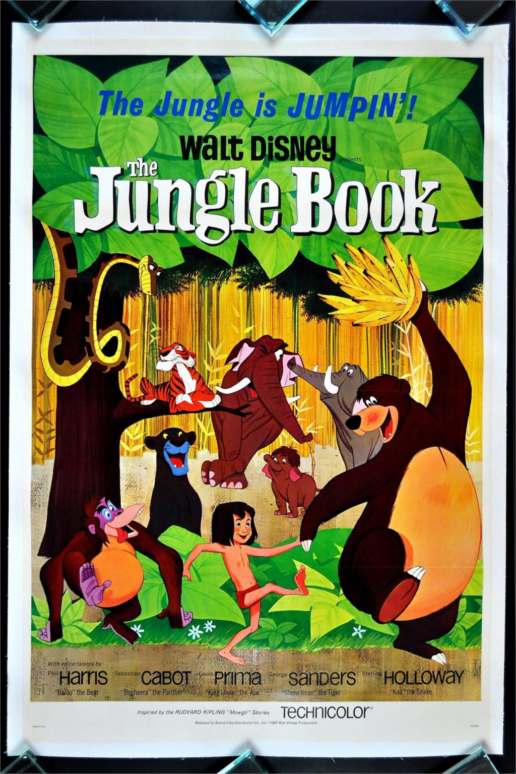 DIY frame The Jungle Book Animation Movie Classic Poster Home Decoration Art Silk Wall Poster -High quality Picture