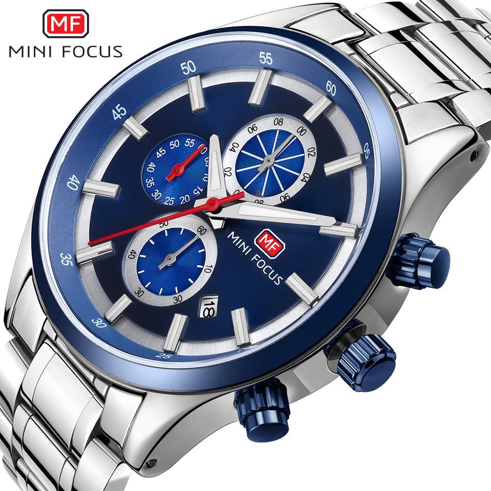 MINIFOCUS Mens Quartz Analog Watch Luxury Top Fashion Sport Wristwatch Waterproof Stainless Male Watches Clock Relogio Masculino
