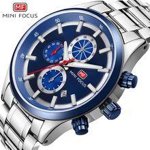 MINIFOCUS Mens Quartz Analog Watch Luxury Top Fashion Sport Wristwatch Waterproof Stainless Male Watches Clock Relogio Masculino