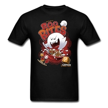 Geek Ghostbuster Boo Bites T-shirt Men Man Custom Short Sleeve Super Mario Boo Game T-shirts