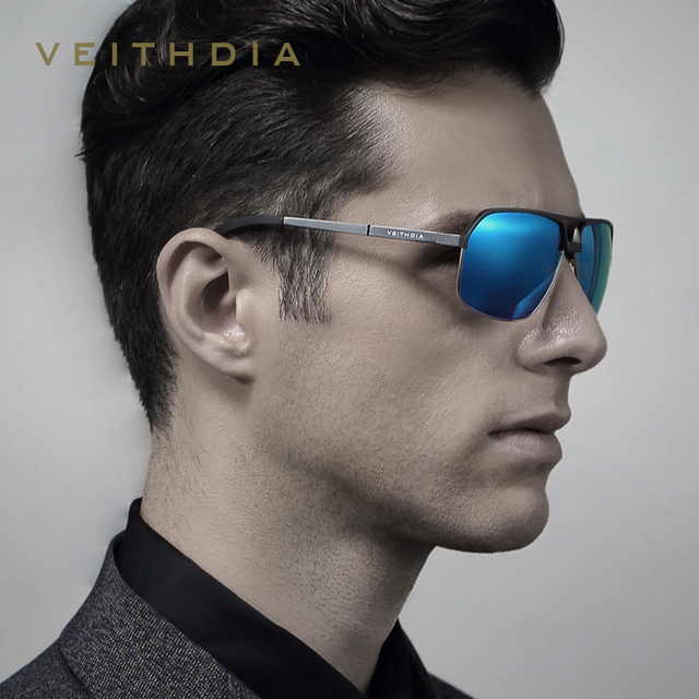 VEITHDIA Polarizada Óculos De Sol Dos Homens Grife UV400 Al-Mg Óculos  Masculino Óculos De 003e3eb45b