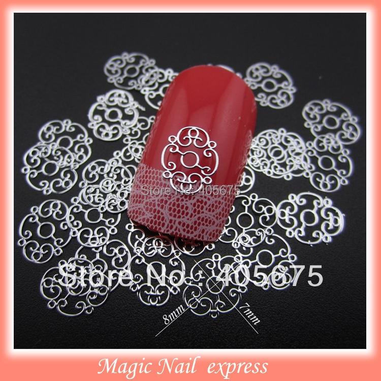 Glitter nail art Metallic flower slices DIY studs metal nail decoration Gel sticker 1000pcs/pack