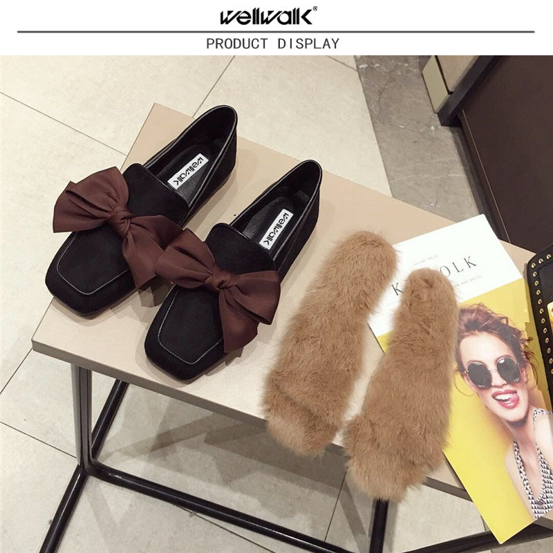 Wellwalk Ballet Flats Woman Shoes Leopard Loafers Women Ballerina Flats Shoes Ladies Black Flats Female Moccasins Shoes Spring 10