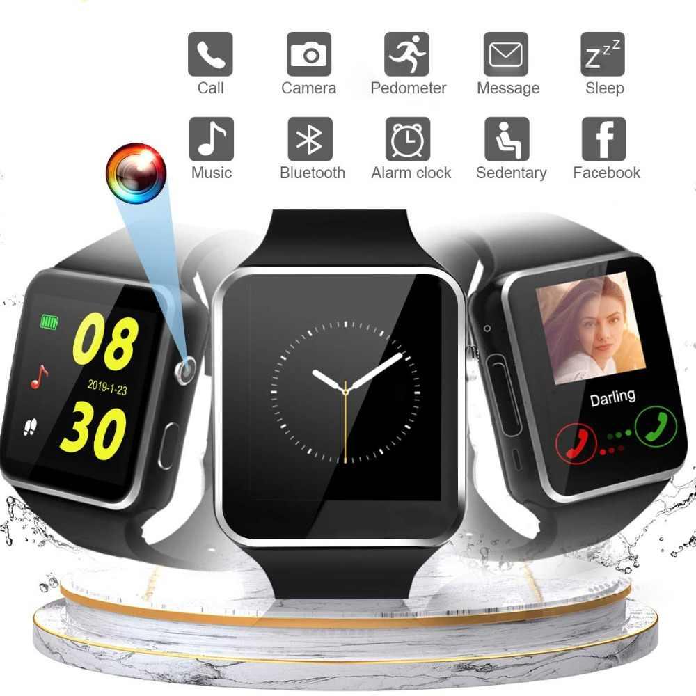 Умные часы Sim Push Message Bluetooth для Android IOS reloj мужские и женские спортивные умные часы для iPhone Xiaomi Huawei Samsung