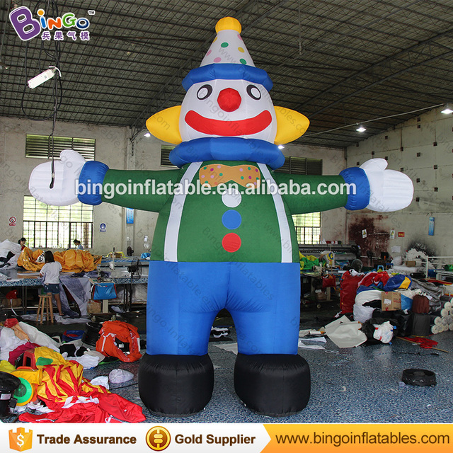 high quality 5m tall giant inflatable clown promotional digital