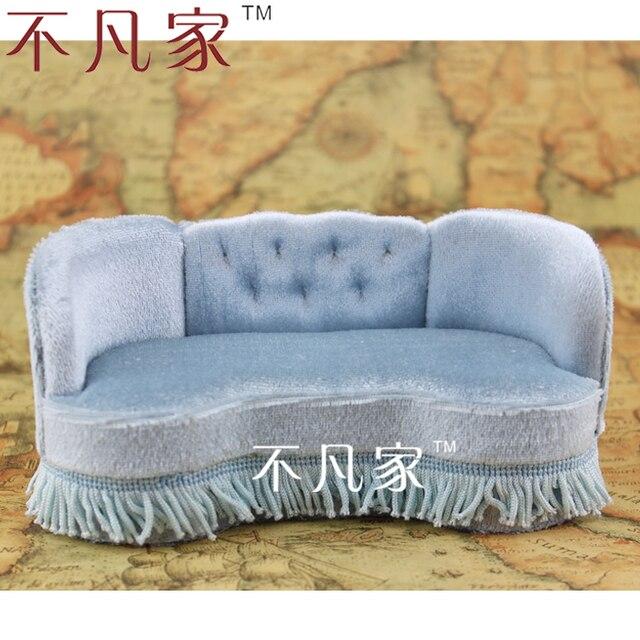 112 échelle Miniature Maison De Poupée Meubles Canapé Tissu Doux