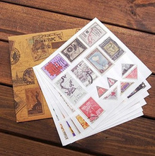 New European vintage stamp sticker set for scrapbooking , masking Vintage old stickers