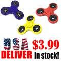 EUA Banco de Tri-Spinner Fidget Brinquedo Plástico EDC Mão Spinner Para O Autismo E TDAH Dropshipping