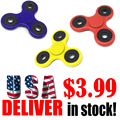 US Stock Tri-Spinner Fidget Toy Plastic EDC Hand Spinner For Autism And ADHD Dropshipping