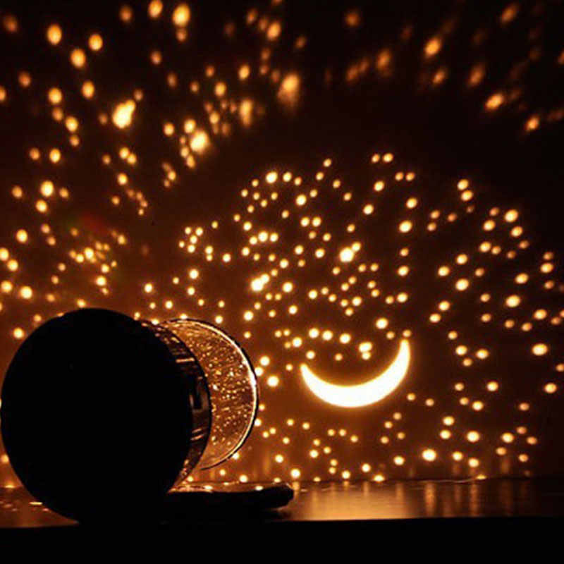 Светодиодный ночник звездное небо Волшебная Звезда Луна планета Космос проектор лампа Вселенная декоративная лампа для любимой, подруги подарок для детей