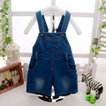 2016 Summer Kids Bib Overalls Feeding Bottle Printed Cotton Baby Overalls Children Bib Pants Big Pocket Boys Overalls for Girls