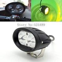 Imperméable à l'eau 12-80 V Moto LED Phare de Phare Moto Brouillard Spot Head Light Pour Honda Yamaha Suzuki Pit Bike Dirt Bike ATV