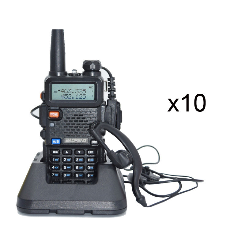 10PCS Walkie Talkie Baofeng uv 5r CB Radio Dual Band 136-174 MHz/400-520 MHz estação de Rádio portátil 128 CH Two-way Radio uv-5r