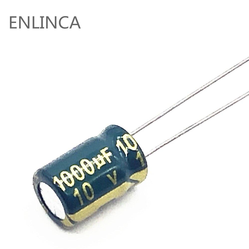 Алюминиевый электролитический конденсатор с низким ESR/сопротивлением 20 шт./лот 10 в 1000 мкФ, размер 8X12 1000 мкФ 10 в 1000 мкФ 20%