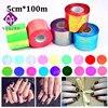 1roll 5cm 100m 20colors Holographic Shiny Laser Nail Transfer Foil Sticker Broken Glass Nail Art Beauty