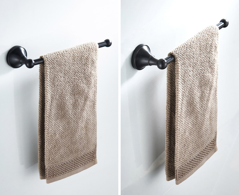 black towel ring towel bar towel holder 2
