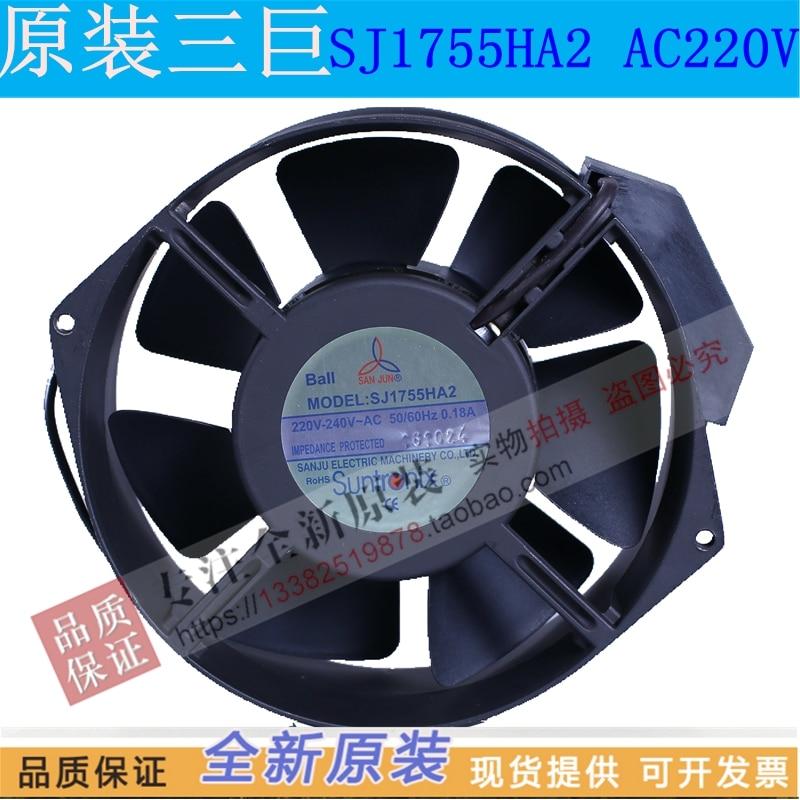 NEW Suntronix SAN JUN SJ1755HA2 HA1 110V 1755 AC220V Capacitive fan Axial cooling fanNEW Suntronix SAN JUN SJ1755HA2 HA1 110V 1755 AC220V Capacitive fan Axial cooling fan