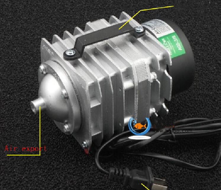 Free shipping Hailea ACO-318 Electromagnetic Aquarium Air Compressor Pump 70L/min 220V 35W 0.025 Mpa min