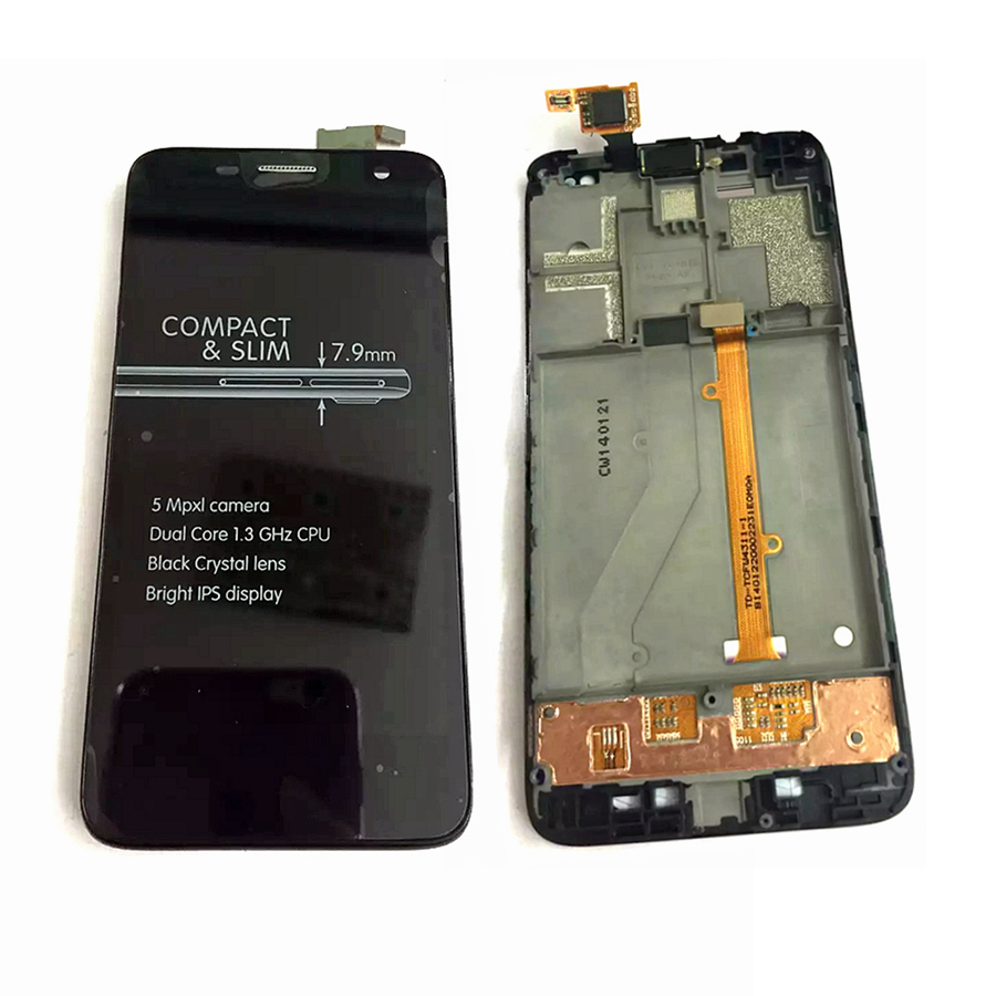 Full LCD Display Touch Screen Digitizer Frame Cover Assembly For Alcatel One Touch Idol mini 6012