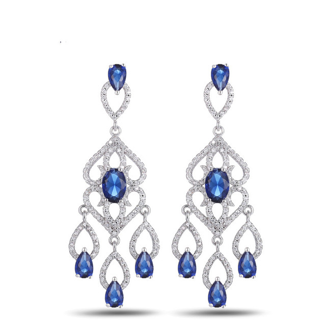 3f18f9966 Exquisite Vivid Dangling Tassel Drop Top Grade Princess Cut AAA CZ  Chandelier Earrings Women 6 colors E10190