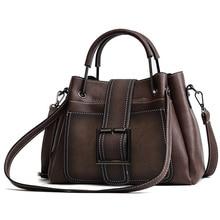 MENGXILU Brand Women Handbag Ladies Soft Pu Leather Bag Pin Type Women Solid Fashion Shoulder Bags Metal Handle Casual Tote Bag