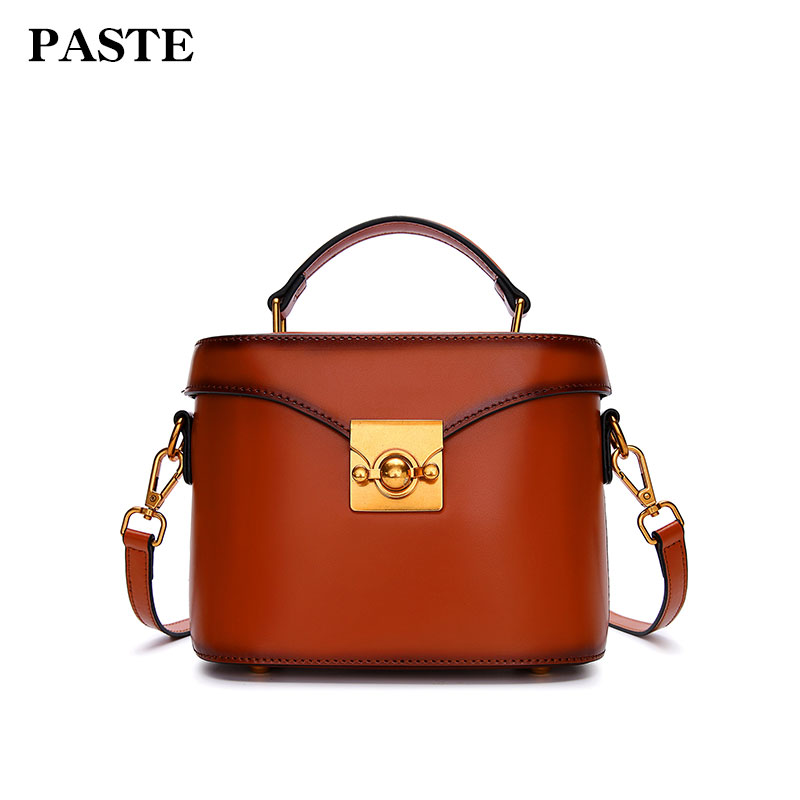 Paste Women Handbags Vintage Crossbody Messenger Bag New Leather Shoulder Bags Square 2018 Brand Lady Solid Small Flap 3069 free shipping new fashion brand women s single shoulder bag lady messenger bag litchi pattern solid color 100