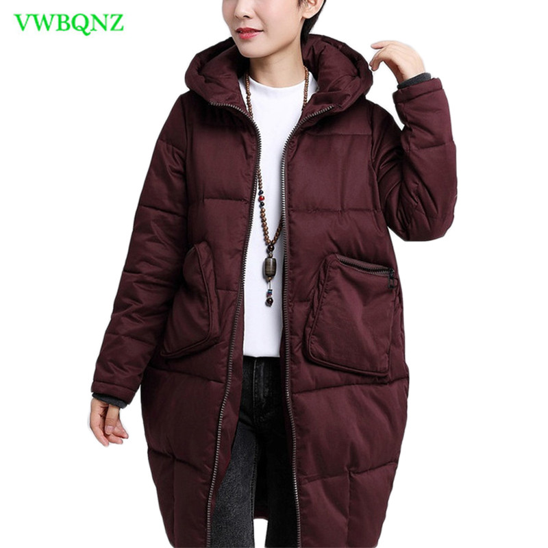 Women Winter Jacket Coat Plus size Thicken Warm Cotton Clothing High-end Plus size Casual Hooded Women Outerwear   Parkas   5XL A921