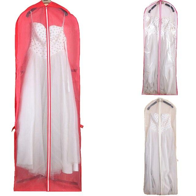 Lemandy Red Foldable Wedding Dress Dust Bag Bride Dress Cover Bag Protector  Case For Wedding Dress