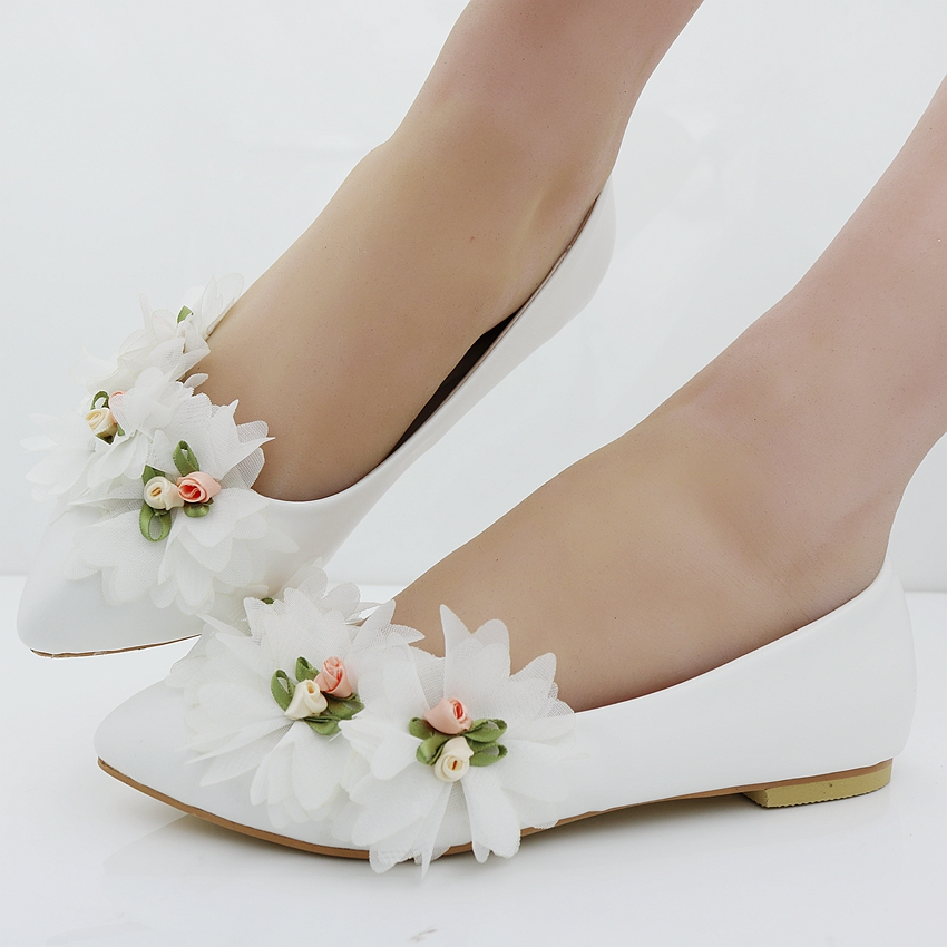 recommend Fashion flats for women shoes flowers flats casual shoes weeding flats white wedding shoes flat heel for women fashionable for sale quality free shipping low price D1p3j