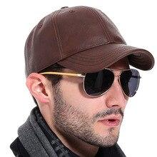 [AUBREYRENE] 2017 New Winter PU Leather Baseball Cap Men Classic Hats for Man bone masculino Z-2658