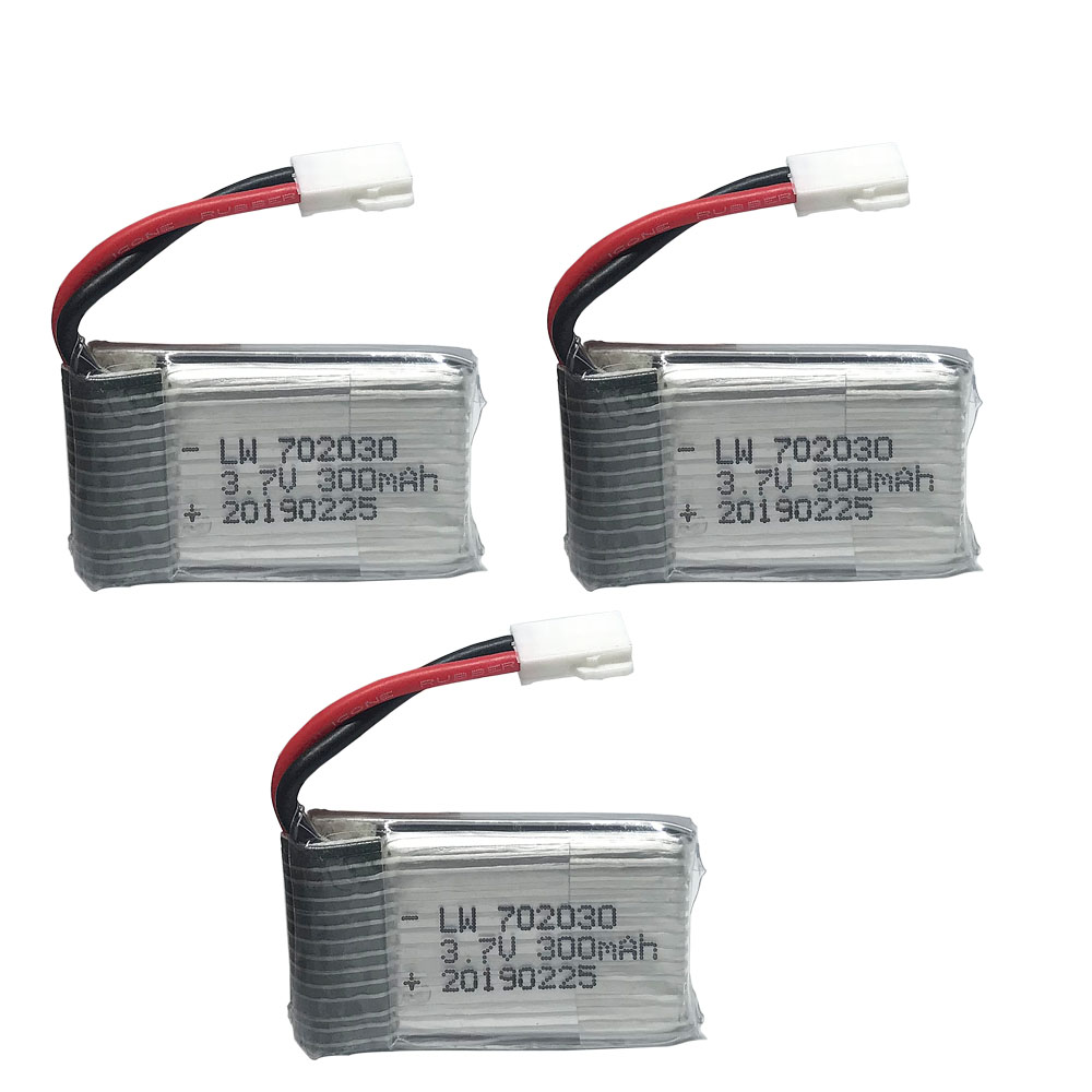 <font><b>3.7V</b></font> <font><b>300mAH</b></font> <font><b>Lipo</b></font> <font><b>Battery</b></font> For E55 FQ777 FQ17W Hubsan H107 Syma X11C Udi U816 U830 RC helicopter <font><b>3.7V</b></font> 300 mAH MX2.0 plug 3pcs/lot image