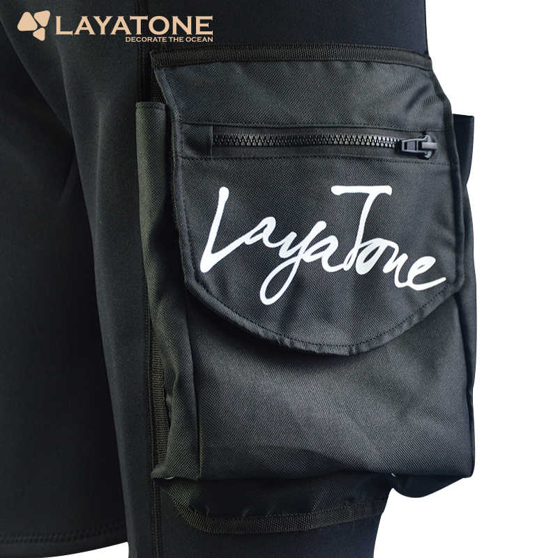 LayaTone 3mm Neopren Dalış Şort Erkekler Sörf Dalış Wetsuit Teknoloji Kısa Yüzme Kürek Yelken Tüplü Dalış Cep Pantolon